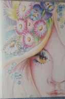 Petit Calendrier De Poche 1987 Illustration Femme  Coiffeur Dijon - Kalender