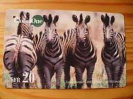 Global One Prepaid Phonecard Switzerland - Zebra - Schweiz