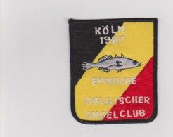 Pêche  Epinoche  Ecusson En Tissu Belgischer Angelclub  Köln 1987 - Ecussons Tissu