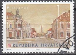 Hrvatska 1995 Michel 341 O Cote (2006) 0.20 Euro Bjelovar Rue De Zagreb Cachet Rond - Croatie