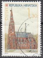 Hrvatska 1995 Michel 342 O Cote (2006) 0.40 Euro Osijek Cathédrale Saint-Pierre Et Saint-Paul Cachet Rond - Croatie