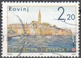 Hrvatska 1995 Michel 344 O Cote (2006) 0.70 Euro Vue De Rovinj Cachet Rond - Croatie