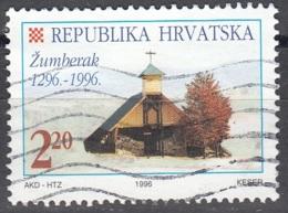 Hrvatska 1996 Michel 390 O Cote (2006) 0.70 Euro Chapelle Dans Le Massif De Žumberak - Croatie