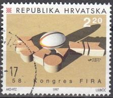 Hrvatska 1997 Michel 419 O Cote (2006) 0.80 Euro Rugby Cachet Rond - Croatie