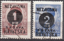 Hrvatska 1941 Michel 41 - 42 O Cote (2006) 1.00 Euro Roi Pierre II Cachet Rond - Croatie