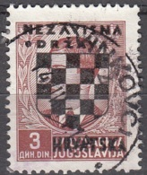 Hrvatska 1941 Michel 14 O Cote (2006) 1.20 Euro Armoirie Et Roi Pierre II Cachet Rond - Croatie