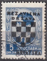 Hrvatska 1941 Michel 16 O Cote (2006) 1.70 Euro Armoirie Et Roi Pierre II Cachet Rond - Croatie