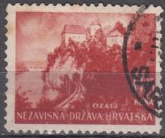 Hrvatska 1941 Michel 47 O Cote (2006) 0.10 Euro Karlovac Château D'Ozaij Cachet Rond - Croatie