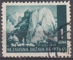Hrvatska 1941 Michel 50 O Cote (2006) 0.10 Euro Massif De Velebit Cachet Rond - Croatie