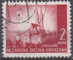 Hrvatska 1941 Michel 52 O Cote (2006) 0.10 Euro Cathédrale De Zagreb Cachet Rond - Croatie