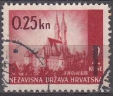 Hrvatska 1942 Michel 82 O Cote (2006) 0.70 Euro Cathédrale De Zagreb Cachet Rond - Croatie