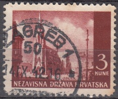 Hrvatska 1941 Michel 53 O Cote (2006) 0.10 Euro Eglise D'Ocijek Cachet Rond - Croatie
