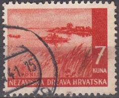 Hrvatska 1941 Michel 58 O Cote (2006) 0.20 Euro Slavonija Paysage Cachet Rond - Croatie