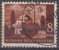Hrvatska 1941 Michel 59 O Cote (2006) 0.30 Euro Mosquée De Gazi Husrev-bey à Sarajevo Cachet Rond - Croatie