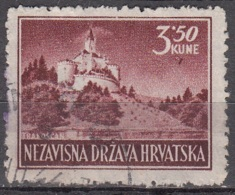 Hrvatska 1943 Michel 98AA O Cote (2006) 0.70 Euro Château De Trakoscan Cachet Rond - Croatie