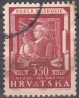Hrvatska 1943 Michel 148 O Cote (2006) 0.50 Euro Ruder Boskovic Cachet Rond - Croatie