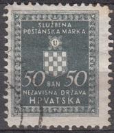 Hrvatska 1942 Michel Service 2A O Cote (2006) 0.20 Euro Armoirie Cachet Rond - Croatie