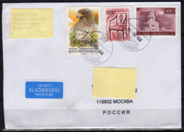 Priority Letter From Hundary To Russia 2019 Birds Bird Eagle Aigle - Arends & Roofvogels