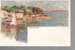 06 BEAULIEU LITHO  Dessin Wieland T 1899 - Beaulieu-sur-Mer