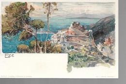 06 EZE  LITHO  Dessin Wieland T 1899 - Eze
