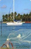 *IS. MALDIVE* - Scheda A Chip Usata - Maldiven