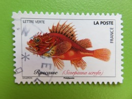 Timbre France YT 1684 AA - Faune Aquatique -  Poissons De Mers - Rascasse Rouge - Cachet Rond - 2019 - Frankrijk