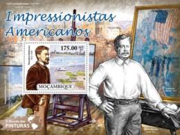 Mozambique, 2011. [moz11529] American Impressionists (s\s+block) - Impressionisme