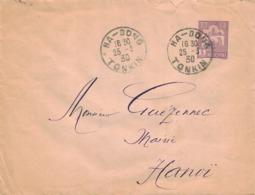INDOCHINE - Entier Postal 5 Cents  - Cachet  HA- DONG  Tonkin - 1930 - Annam Et Tonkin (1892)