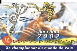 CARTE-PUCE-POLYNESIE-30U-PF126--GEMA-03/02-CHAMPIONNAT DE VA A A BORA BORA-UTILISE-TBE- - Französisch-Polynesien