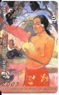 CARTE-PUCE-POLYNESIE-40U-PF136-GEMA-05/03-CENTENAIRE MORT P.GAUGUIN-UTILISE-TBE- - Französisch-Polynesien
