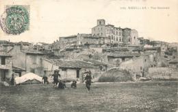 13 Eguilles Vue Générale Cpa Carte Animée Cachet Eguilles 1907 - Autres Communes