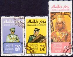 BRUNEI 1988 SG 438-40 Compl.set Used 20th Anniv Of Sultan's Coronation - Brunei (1984-...)