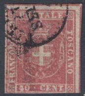 Toscana Governo, 40 Cent Carm. Rosa DOPPIO FILETTO Adf UNICO, Rarissimo - Toscana