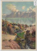 Vallon De Riex (Lake Geneve) - Künstlerkarte - VD Waadt