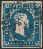 Sardegna, I Emissione , 20 C. Azzurro N.2 Cv 550 - Sardaigne