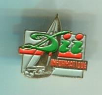 Pin's - DII INFORMATIQUE Bateau Voilier - Informatique