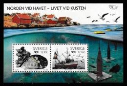 SWEDEN 2010 NORDEN/Life By The Coast/Livet Vid Kusten: Miniature Sheet UM/MNH - Blocchi & Foglietti