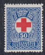 Yugoslavia 1933 Red Cross Surcharge, MNH (**) Michel 1 - Portomarken