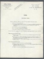 Note Technique N°733 Méthodes Réparations 2 CV Nouveau Capot De 1960 - Bricolage / Tecnica