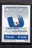 Italy, 2003- Universiadi Invernali Di Tarvisio. MIntNH. - 6. 1946-.. Republic