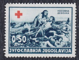 Yugoslavia 1940 Red Cross Surcharge Changed Colour, MNH (**) Michel 4 - Segnatasse