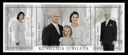 SWEDEN 2016 Royal Anniversaries/Kungliga Jubiléer: Miniature Sheet UM/MNH - Blocks & Kleinbögen