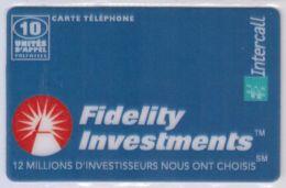 INTERCALL  - 10 Unités - Fidelity Investments - Tirage : 6.000 Ex - Code Non Gratté - Voir Scans - France