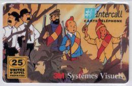 INTERCALL  - 25 Unités - Tintin - Type 1 Code Et N° Lot Verso - Tirage : 3.700 Ex - Code Gratté - Voir Scans - France