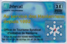 INTERCALL  - 25 Unités - Office De Tourisme Synd. D'initiative Nanterre - Tirage : 500 Ex - Code Non Gratté - Voir Scans - France