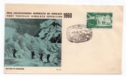 1960 YUGOSLAVIA, SLOVENIA, MARIBOR, SPECIAL COVER, FIRST YUGOSLAV HIMALAYA EXPEDITION, CANCELATION MARIBOR, 5.05.1960 - 1945-1992 Socialist Federal Republic Of Yugoslavia