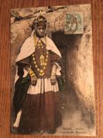 Cpa, MAROC, OUJDA, Jeune Femme Marocaine, écrite En 1907, Timbre - Other