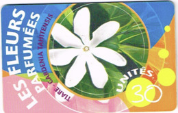 Polynesie Francaise Tahiti Telecarte Phonecard Prepaid PF121 Fleur Parfumee Tiare Ut BE - Frans-Polynesië