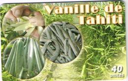 Polynesie Francaise Tahiti Telecarte Phonecard Prepaid PF145 Vanille Tahiti Gousse Vanilla Fleur Ut BE - Frans-Polynesië