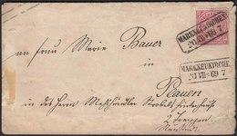 1869 NDP Ganzsache Umschlag Von Markneukirchen Nach Plauen   (22948 - Postzegels